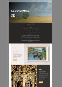Die Webseite für H.C. Viggo Hansen