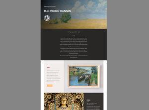 Die Homepage für den Künstler Viggo Hansen